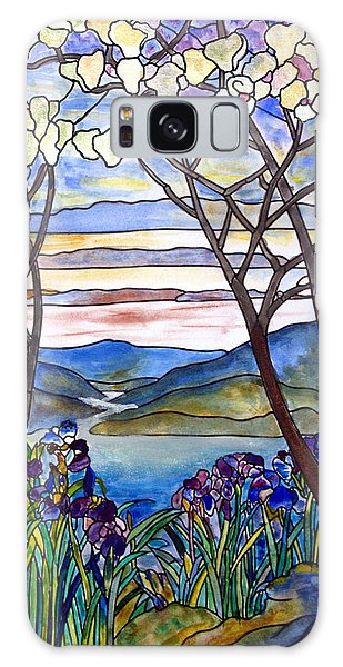 Stained Glass Tiffany Frank Memorial Window Galaxy Case by Donna Walsh