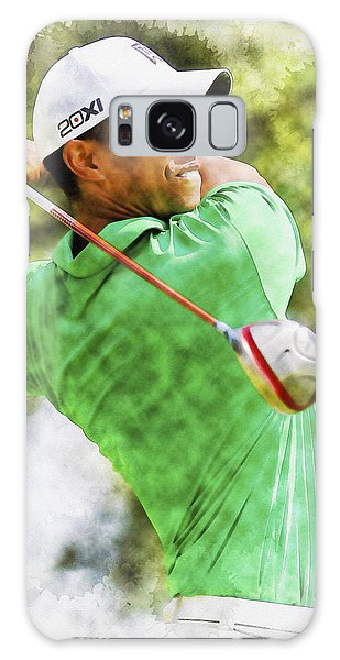 Tiger Woods Hits A Drive  Galaxy Case