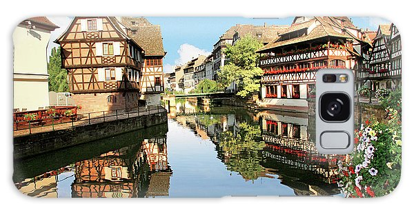 Swan Boats Galaxy Case - Timbered Buildings, La Petite France by Miva Stock