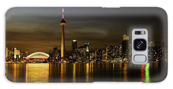 Toronto Evening Sky Line Panorama Galaxy Case