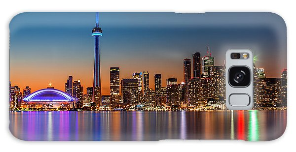 Toronto Skyline At Dusk Galaxy Case
