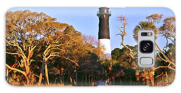 Hunting Island Galaxy Case - Trees Around A Lighthouse, Hunting by Panoramic Images