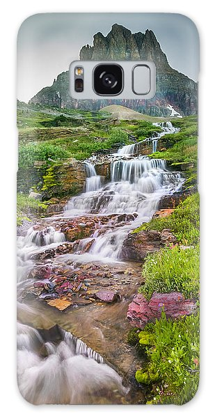 Triple Falls Stream Glacier National Park Galaxy Case