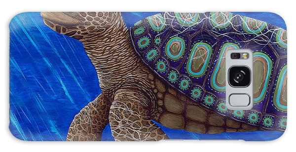 Turtle Painting Bomber Triptych 2 Galaxy Case
