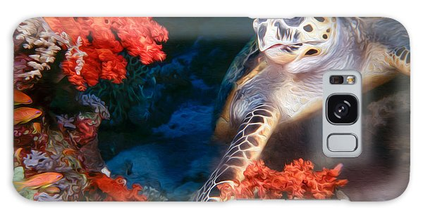 Reef Diving Galaxy Case - Turtle by Roy Pedersen