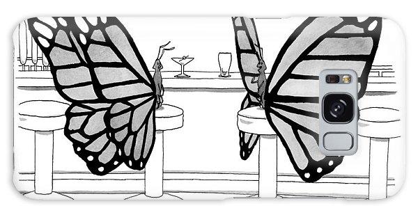 Two Butterflies Talking In A Bar Galaxy Case