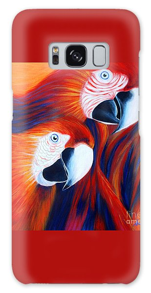 Two Parrots. Inspirations Collection. Galaxy Case by Oksana Semenchenko