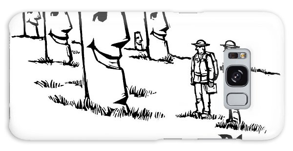 Two Tourists/ Explorers On Easter Island Come Galaxy S8 Case