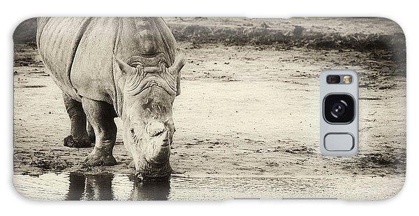 Two White Rhinos  Galaxy Case