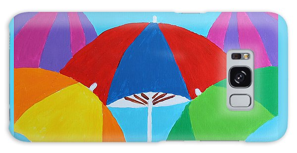 Galaxy Case featuring the painting Umbrellas by Deborah Boyd