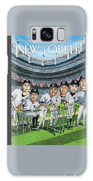 Yankee Stadium Galaxy S8 Case - New Yorker April 8th, 2013 by Mark Ulriksen