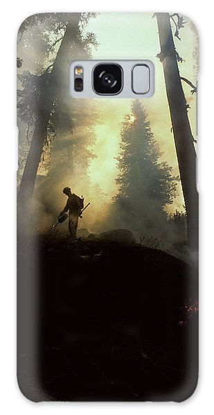 Kings Canyon Galaxy Case - Usa, California, Forest Fire, Sequoia by Gerry Reynolds