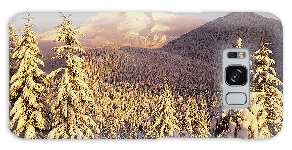Cold Day Galaxy Case - Usa, Oregon, Mt Hood National Forest by Stuart Westmorland