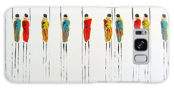 Vibrant Masai Warriors - Original Artwork Galaxy Case