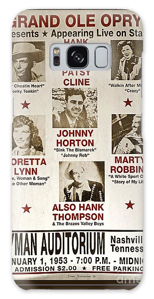 Vintage 1953 Grand Ole Opry Poster Galaxy Case by John Stephens