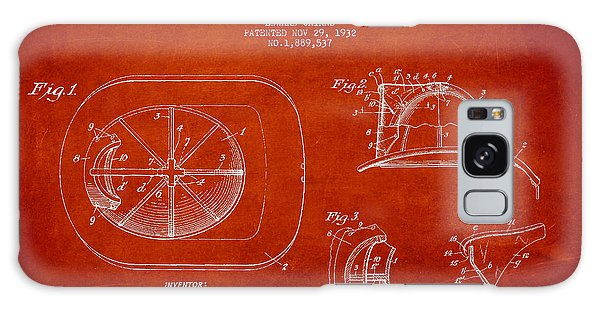 Patent Galaxy Case - Vintage Firefighter Helmet Patent Drawing From 1932 by Aged Pixel
