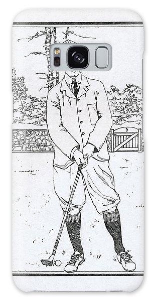 Vintage Golfer Galaxy Case