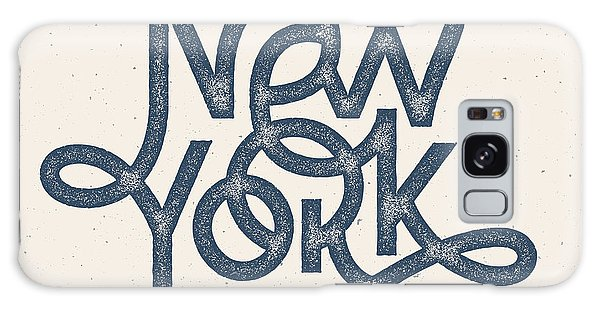 East Galaxy Case - Vintage Hand Lettered Textured New York by Tortuga