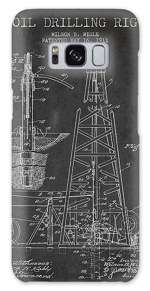 Vintage Oil Drilling Rig Patent From 1911 Galaxy Case