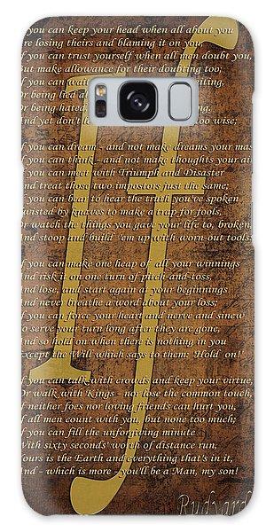 Vintage Poem 3 Galaxy Case