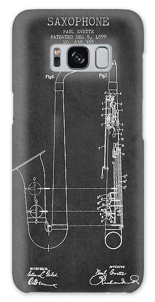Saxophone Patent Drawing From 1899 - Dark Galaxy Case by Aged Pixel
