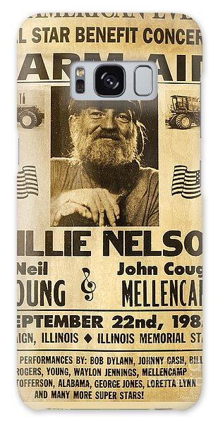 Vintage Willie Nelson 1985 Farm Aid Poster Galaxy Case