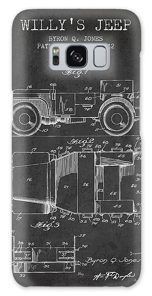 Ww2 Galaxy Case - Vintage Willys Jeep Patent From 1942 by Aged Pixel