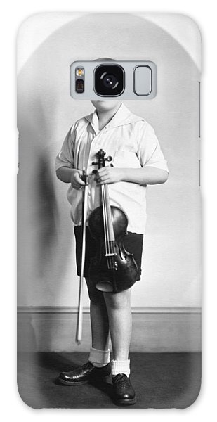 Violin Galaxy Case - Violinist Yehudi Menuhin by Underwood Archives