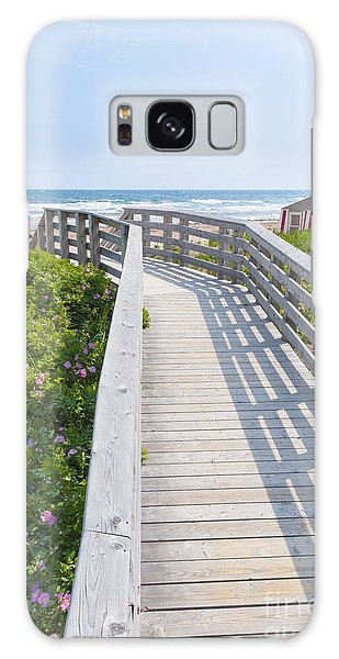 Board Walk Galaxy Case - Walkway To Ocean Beach by Elena Elisseeva