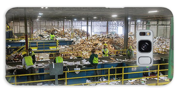 Wasted Galaxy Case - Waste Sorting At A Recycling Centre by Peter Menzel