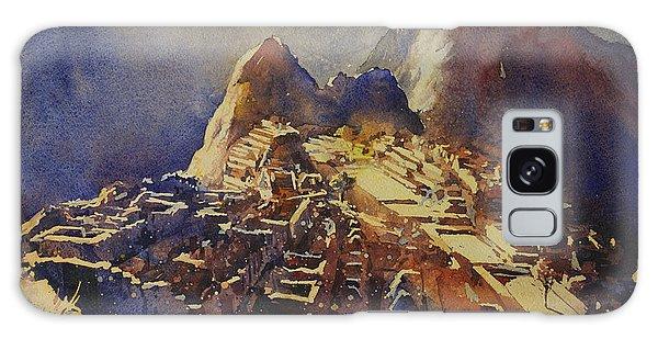 Watercolor Painting Machu Picchu Peru Galaxy Case