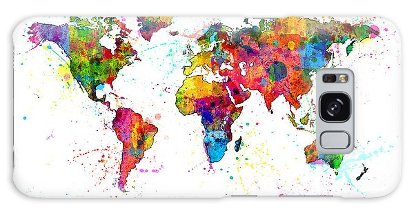 Watercolor Political Map Of The World Galaxy Case