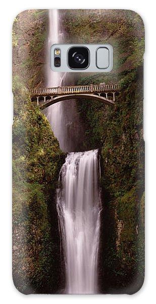 Waterfall In A Forest, Multnomah Falls Galaxy Case