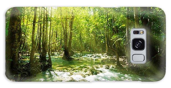 Waterfall In Rainforest Galaxy Case by Atiketta Sangasaeng