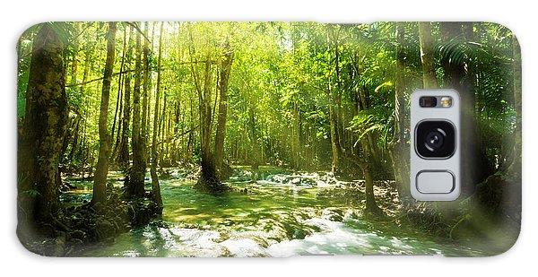 Waterfall In Rainforest Galaxy Case