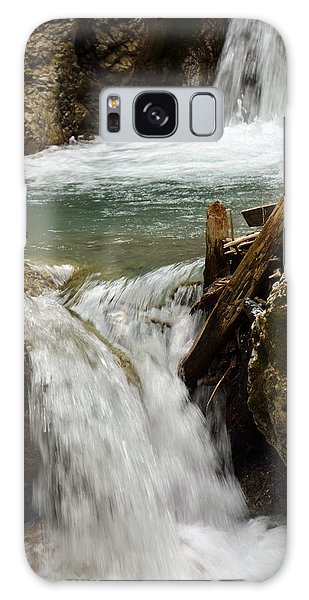 Waterfall In Wolfs Gorge In Alps Galaxy Case