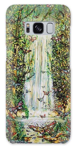 Waterfall Of Prosperity II Galaxy Case