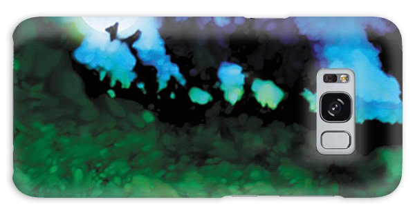 We Run To Catch The Moon Galaxy Case by The Art of Marsha Charlebois