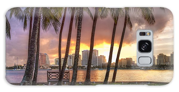 Flagler Galaxy Case - West Palm Beach Skyline by Debra and Dave Vanderlaan
