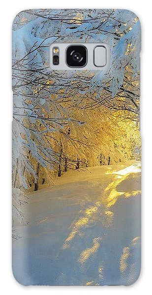 When Snow Falls Nature Listens Galaxy Case