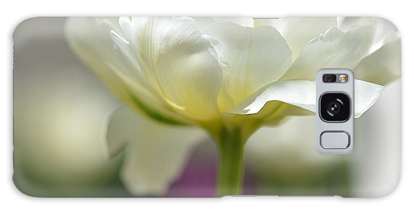 White Green Tulip Galaxy Case