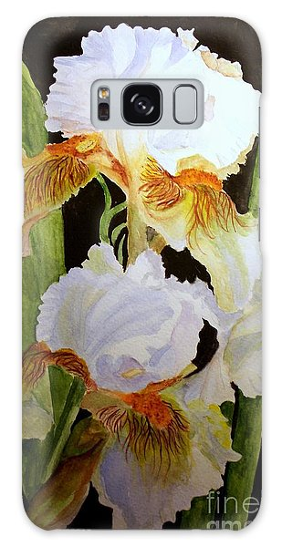 White Iris Galaxy Case by Carol Grimes