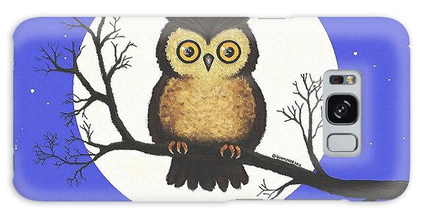 Whooo You Lookin' At Galaxy Case by Sophia Schmierer