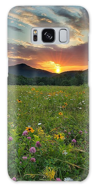 Wildflower Sunset Galaxy Case