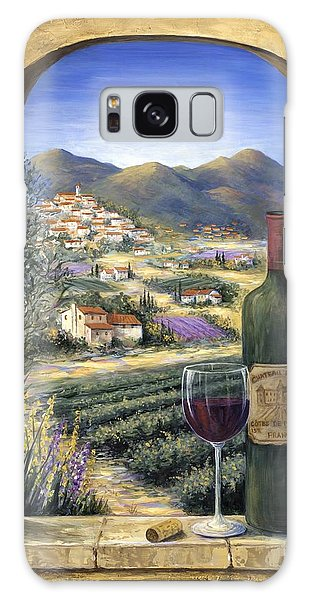 Arched Galaxy Case - Wine And Lavender by Marilyn Dunlap