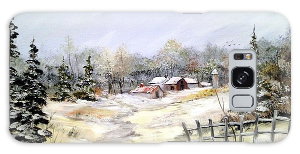Winter At The Farm Galaxy Case