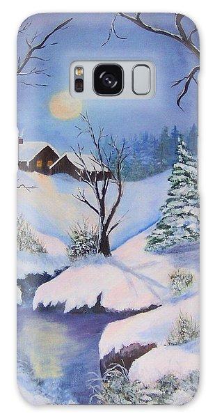 winter Moon Galaxy Case by Catherine Swerediuk