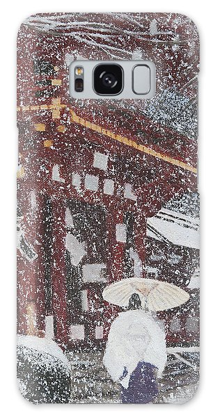 Winter Scene From Japan Galaxy Case