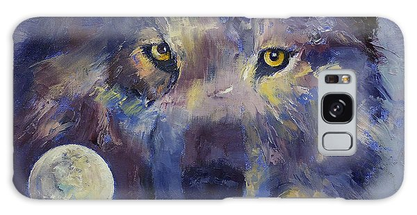 Collectibles Galaxy Case - Grey Wolf Moon by Michael Creese