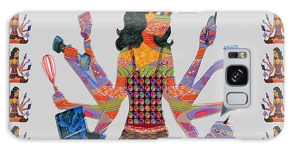 Modern Woman Female Spiritual Inspiration Multitasking Leadership Goddess Background Designs   Galaxy Case